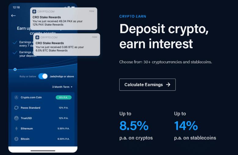 crypto earn pe exchange-ul crpyto com